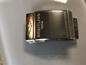 New Genuine Breitling A20D.4 20mm Polished Push Button Folding Dive Strap Clasp