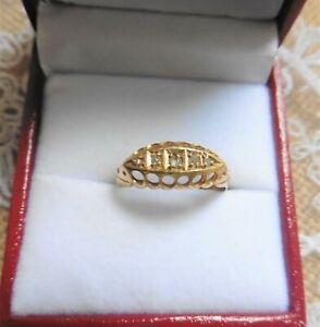 Antique Five Stone Diamond Boat Ring - Chester 1912