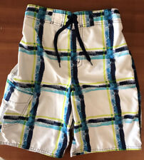 ~Awesome~ Joe Boxer Swim Shorts Trunks UnLined: Blue, White, Green (10-12)