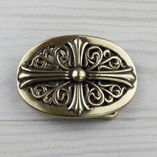 Keltische Gürtelschnalle Messing Spirale Knoten Kreuz Buckle Wechselschließe