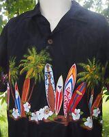GENUINE Made in Hawaii Hawaiian Shirt Mens Large Cotton USA Floral Surfboards
