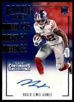 2016 PANINI CONTENDERS GIANTS ROGER LEWIS RC AUTO BOWLING GREEN FALCONS #240
