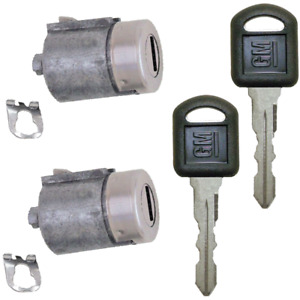 GM Strattec OEM Door Lock Key Cylinder Pair Tumbler Barrel Set 2 GM Keys