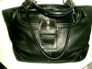 Coach Soho Carryall Tote No. 5770 Extra Large Black Iconic Leather EXCELLENT!!