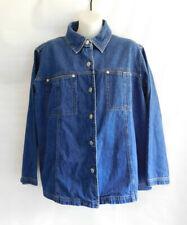 Women's Plus Size 14/16 Venezia Jeans Clothing Co Jacket Blue Jean Denim Dark
