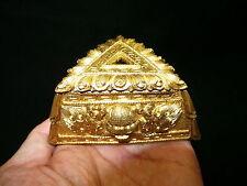 Old Nepal Tibet Gilt Bronze Chitipati Skull Phurba Stand Seat