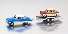 1:87 Scale BUB 06253 Wartburg 311 Coupe, Trailer & Trabant P50 - BNIB
