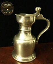 """VTG Royal Holland Daalderop Pewter Lidded Acorn Hinged Creamer Pitcher 5""""h"""