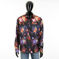 DIOR HOMME x KAWS 1150$ Shirt In Black Silk With 'Bouquet De Fleurs Dior' Print
