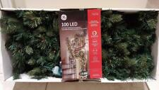 """NEW - GE Dual """"Color Choice"""" 100 LED Christmas Lighted Branch Garland - 9 Feet"""