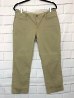 Banana Republic Women's Stretch Khaki Green Cropped Chino Pants Size 10