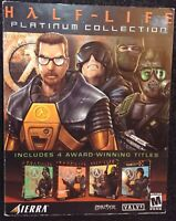 Very Rare Cover Half-Life Platinum Collection Pc Big Box 4 Games Windows 95 98