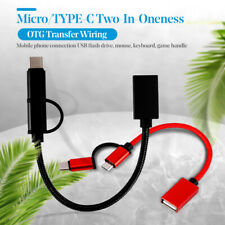 2 in 1 Usb3.0 to Type-C Micro Usb Otg Data Sync Adapter Cable Accessories