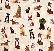 Holly Jolly Cats & Dogs Patchworkstoff Stoffe Weihnachten Patchwork Hunde Katzen