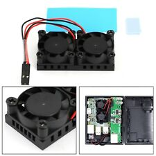 Dual Fan Double Cooling Fans with Heatsink Cooler Kit For Raspberry Pi 4B 3B+