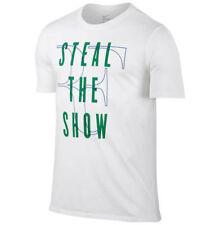 Mens Nike Roger Federer Steal The Show tennis t-shirt White Green Xl