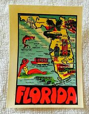 Vintage State Luggage Decal Florida Capitol Souvenir Co.
