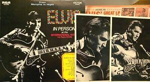 ELVIS PRESLEY IN PERSON INTERN. HOTEL VEGAS 2-lps with bonus photos, RCA inners