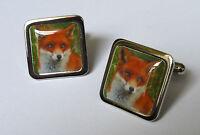 Unique! RED FOX CUFFLINKS nature WILD wildlife COUNTRYSIDE dog BRITISH beautiful