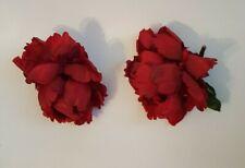 "2 Red Silk Rose Flowers 4"" Illuminations"