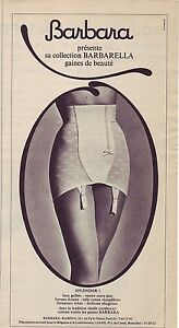 PUBLICITE ADVERTISING 034 1964 BARBARA collection barbarella gaine 1