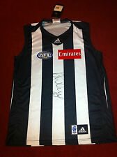 2011 DANE SWAN HAND SIGNED COLLINGWOOD FOOTBALL JUMPER BROWNLOW YEAR