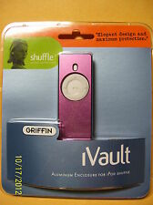 Griffin iVault Metal Jacket for Ipod Shuffle purplish pink