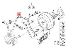 Genuine BMW E81 E82 Power Brake Unit Depression Vacuum Pipe OEM 11667549697