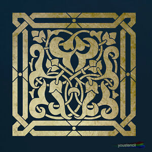 Moroccan Tile Stencil:  for Walls & Furniture and Art  ST79 A4