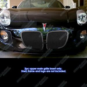 Fits 2006-2009 Pontiac Solstice Black Mesh Grille Grill Insert