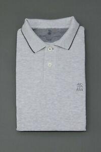 "NWT Brunello Cucinelli Men's ""Slim Fit"" Short Sleeve Logo Polo Shirt Size M A211"