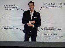 "Big & Tall Arrow Men's  Spread Collar Dress Shirt Size 24"" NECK  8X BLACK"