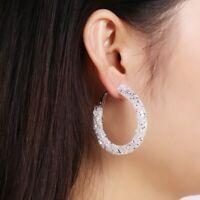 Ohrringe Damen Luxus Klassisch Edel Weiß Neu Earrings White Women New