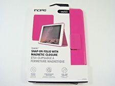 INCIPIO iPad Air 2 Snap On Folio Magnetic Closure Case Sueded Microfiber Pink