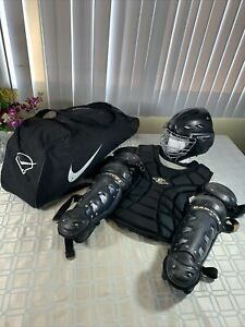 Easton Complete Youth Age 9-12 Softball Baseball Catcher's Gear Carry Bag Bundle