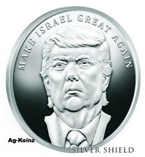 Trump Prophecy Series #6 - 1oz 2017 Make Israel Great Again Proof Silver Shield