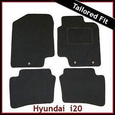 Hyundai i20 Mk1 2008-2014 3-eyelets Tailored Fitted Carpet Car Floor Mats BLACK