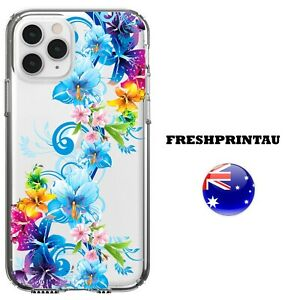 Silicone Case Cover Lilies Colour Blue Flowery Floral Girly Soft Tulips Roses AU