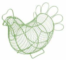 Eddington Chicken Egg Storage Basket Wire Egg Holder Sage Vintage Retro Style