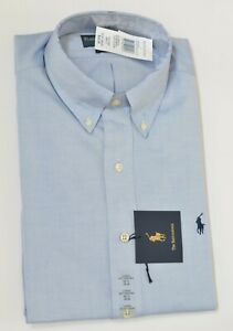 New Polo Ralph Lauren Men's Classic Fit Pinpoint Oxford Cotton Dress Shirt