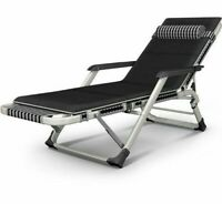 Folding Bed Chair Reclining Lounge Modern Outdoor Furniture Sun Lounger Soft New