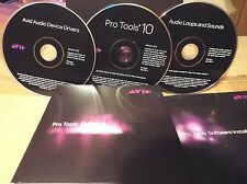 Avid Pro Tools 10.0 Official Software DVDs with PT 10  ilok License transfer