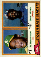 1981 Topps Baseball Card #s 1-250 +Rookies (A2337) - You Pick - 10+ FREE SHIP