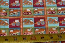 "27"" Long, Construction Equipment on Quilt Fabric, Fabric Freedom/British, N5056"