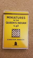 Chess book: Miniatures in the Queen's Indian: 4.g3 by FM Hansen (2017) (signed)