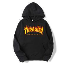 Men Women Hoodie Sweater Hip-hop Skateboard Thrasher Sweatshirts Pullover Coat