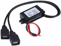 12V to 5V USB Power Adapter 12 Volt DC Voltage step down device charger DUAL 3A
