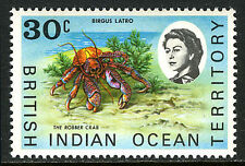 British Indian Ocean Territory 21, MNH. Marine fauna. Robber crab, 1970