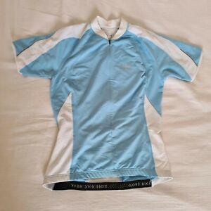 Ladies Gore Bike Wear Cycling Top Blie/White, Size EU 36, US Small