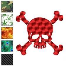 Skull Crossbones Pirate Decal Sticker Choose Pattern + Size #991
